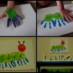 Fun spring craft - do after reading The Very Hungry Caterpillar