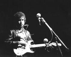 Bob Dylan performs at the 1965 Newport Folk Festival.