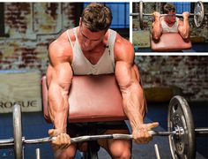For biceps-training advice, we went straight to the guy with the big guns. Here's what Calum von Moger—World Fitness Federation's Mr. Universe—had to say. Huge Biceps, Biceps And Triceps, Biceps Workout, Ace Fitness, Fitness Tips, Fitness Motivation, Personal Fitness, Physical Fitness, Yoga Fitness