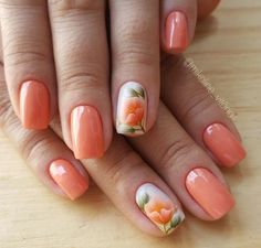 Beautiful Floral Nail Designs For Spring - Page 10 of 50 - Chic Hostess 50 Beautiful Floral Nail Designs For Spring - Page 10 of 50 - Chic Hostess Flower Nail Designs, Short Nail Designs, Nail Designs Spring, Cool Nail Designs, Nail Manicure, Manicures, Spring Nails, Summer Nails, Hair And Nails