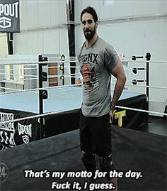 Seth freaking Rollins.... I can't deal with this much cuteness!