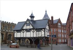 The old Grammar school in Market Harborough, Leicestershire, England