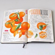 Winter flavor ❄️ #moleskine #multiliner #copic #sketch #sketchbook #recipejournal