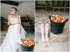 bridal wellies
