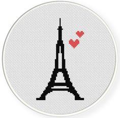 FREE for Jan 16th 2015 Only - Eiffel Tower Love Cross Stitch Pattern