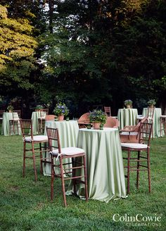 For cocktails, the yard is furnished with wicker furnitures. Wedding Decorations, Purple Wedding, Country Wedding, Colin Cowie Weddings