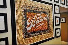 handmade by stacy vaughn: wine cork board Wine Cork Projects, Bottle Cap Projects, Wine Cork Crafts, Bottle Cap Crafts, Diy Projects, Beer Bottle Caps, Bottle Cap Art, Diy Cork, Recycled Wine Bottles