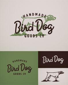 Bird Dog Handmade Goods Co. by Bob Ewing http://dribbble.com/shots/1463292-Bird-Dog-Logo-FINAL?list=following