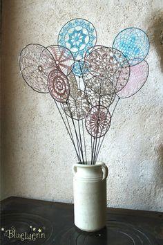 Inspiration :: Spring Bouquet  (no patterns)  . . . .   ღTrish W ~ http://www.pinterest.com/trishw/  . . . .   #crochet #doily #lacy