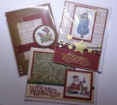 Weihnachts-Gruß-Karten aufwendig gestaltet mit von CreativeArtsbyme