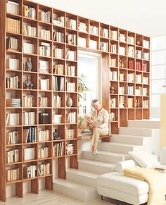 Wandregal, Bücherregal, bookshelf, Bücherwand