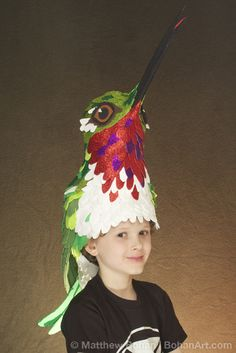 2012 Ruby-throated Hummingbird Hat   Learn more about the artist at https://www.etsy.com/shop/BohanArt/about