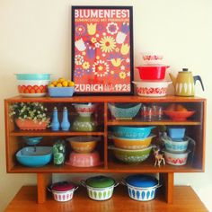 Home is where the... - OH SO LOVELY VINTAGE - love love love all the different colors of old Pyrex!!!