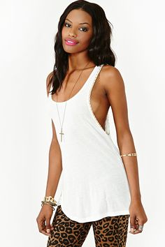 Chain Gang Tank LOVE THIS TOP , GOES WITH EVERYTHING , THE GOLD MAKES IT LOOK EXTRA GOOD