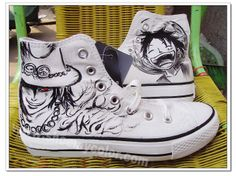 Newest Luffy One Piece Customizable Hand Painted High Top Anime Casual Shoes