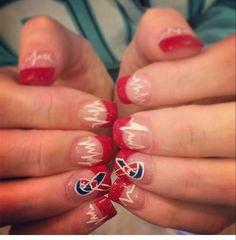 CHD awareness nails