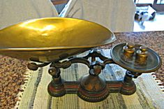 Victorian Tole Painted Troemner Scale. Click on the image for more information.