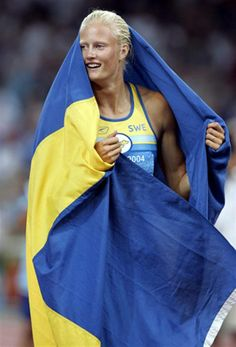 Carolina Kluft Sweden.Carolina Evelyn Klüft (Swedish pronunciation: [klʏft]) (born 2 February 1983) is a Swedish retired athlete competing in heptathlon, triple jump, long jump, and pentathlon. She won the Olympic heptathlon title in 2004. She is also a three-time World and double European heptathlon champion. Klüft first rose to prominence by winning the heptathlon at the 2002 European Championships and setting a new world junior record of 6,542 points. She then won the 2003 World…
