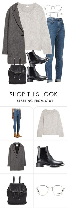 """Sin título #2101"" by alx97 ❤ liked on Polyvore featuring Yves Saint Laurent, Chloé, MANGO, Miu Miu, STELLA McCARTNEY, Ray-Ban and Humble Chic"