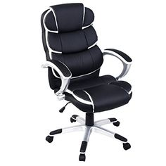 Giantex Ergonomic PU Leather High Back Executive Computer Desk Task Office Chair (Black)