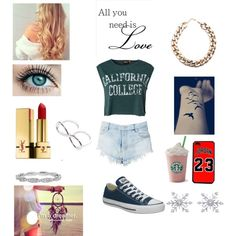 All you need is Love by manon9435 on Polyvore featuring ONLY, Converse, Pull&Bear, Armenta and Yves Saint Laurent