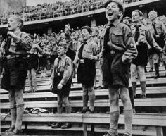 "Hitler Youth. ""He alone, who owns the youth, gains the future."" - Adolf Hitler. Indoctrinating children is easy because they're not at a level where they can properly think for themselves, but what excuse can the adults of Nazi Germany use?"
