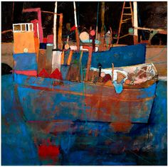 Working Boats On The Clyde - David Smith RSW www.davidsmithart.org