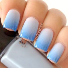 Ombre nail art designs, nail art isn't simply your typical nail job. nail art is associate degree exclusive niche that's gaining quality in late times. Ombre Nail Colors, Blue Ombre Nails, Beach Nail Designs, Diy Nail Designs, Ongles Roses Clairs, Simple Nails Design, Summer Nails Almond, Almond Nails, Summer Toenails