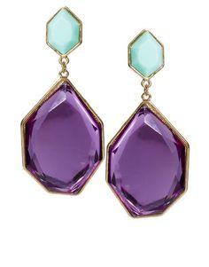 Irregular Stone Drop Earrings | Asos.com