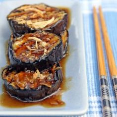 Grilled Eggplants in Oyster Sauce