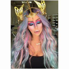 "17.2k Likes, 212 Comments - Aubrey O'Day (@aubreyoday) on Instagram: ""most beautiful unicorn headpiece!  THANK YOU @fairycave  # #maximhalloween…"""