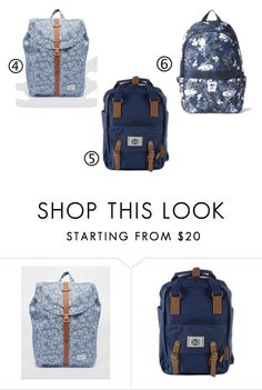 """backbags 2."" by kuruczalexandra on Polyvore featuring Herschel Supply Co."