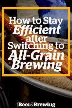 Brewing Efficiency in All-Grain Brews