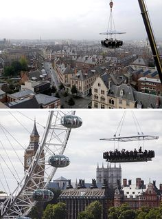 17 Tourist Activities That Would Be A Nightmare For People With A Fear Of Heights // Dinner in the Sky – has been in the skies of 45 counties