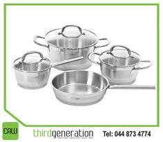 This 7 Piece Cookware Set is made using high quality stainless steel and is ideal for making your favourite recipes and trying new dishes. Spoil Yourself, Cookware Set, Favorite Recipes, Dishes, Festive, Stainless Steel, Mom, Decor, Decoration