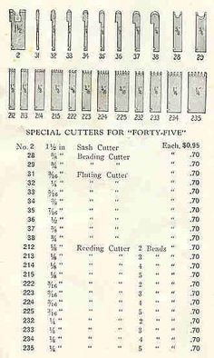 Stanley 45 Plane Special Cutters