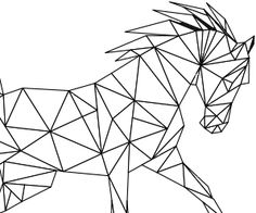 In this post I will show you the new acrylic painting ideas. You can inspire from these simple acrylic painting ideas. If you love acrylic art, come here! Geometric Deer, Geometric Origami, Geometric Drawing, Geometric Shapes, Horse Drawings, Art Drawings, 3d Pen, Animal Sketches, Wire Art