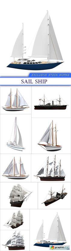 Sail Ship 11x JPEG  stock images