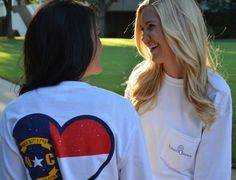North Carolina love on a long sleeve pocket tee!