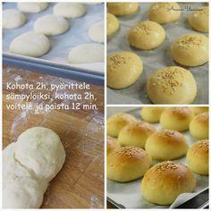 Sliders eli ihanat minihampurilaiset!   Annin Uunissa Sliders, Hamburger, Bread, Food, Eten, Hamburgers, Bakeries, Meals, Breads