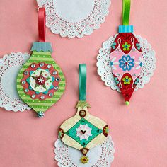 Paper crafts ideas - Make your own colorful Christmas tree ornaments