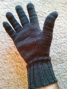 """Evil Sock Genius: a method for creating perfect gloves that """"fit like a glove."""" Knit from the fingers down, these gloves achieve a customized fit using a few, simple measurements. Beta Release of Recipe. See more: http://www.ravelry.com/projects/yarmando/evil-genius-glove-recipe"""