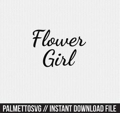 Flower girl Svg, Cricut Cut Files, Silhouette Cut Files  This listing is for an INSTANT DOWNLOAD. You can easily create your own projects. Can be used with the silhouette cutting machines or other machines that accept SVG.  It includes 1 zip folders  1. svg, dxf and pdf files  SVG & DXF Files for electronic cutting machines. You must have an Electronic Cutting Machine that reads SVG or DXF files to use these designs like the Silhouette.  Files can be downloaded instantly. No physical item...