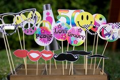 60s PHOTO BOOTH PROPS Customizable  printable by paperandcake