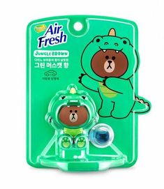 Line Friends Characters Home Car Vent Clip Air Freshener Green Muscat Dino Brown #Homez
