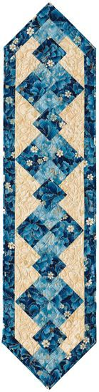 Beautiful table runner from the book Singular Sensations
