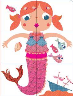 * Puzzel: Zeemeermin! Plastificeren! Je zou hem evt. zelf nog kunnen aanpassen in moeilijkheidsgraad!