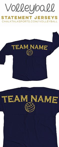 Our statement jerseys are the perfect way to show off your #volleyball pride! Personalize with your team name!