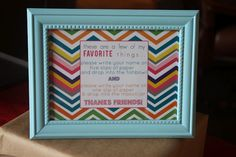 favorite things party...great ideas and how to tips