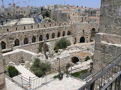 King David's palace in Jerusalem Jerusalem, Israel Travel, Israel Trip, Vietnam Travel, Places Around The World, Around The Worlds, Naher Osten, Israel History, Israel Palestine